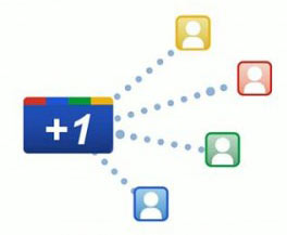Google +1 button social search