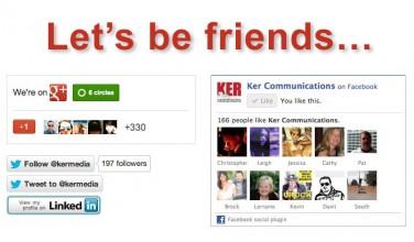Let's Be Friends...
