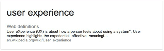 User Experience Definition