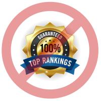 No top SEO rankings guaranteed